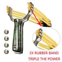 Lance-pierre fronde slingshot Catapulte + Billes Corps alu poignée plastique ABS