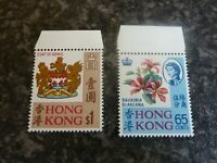 HONG KONG POSTAGE STAMPS SG253 & 254 $1 & 65 CENTS MARGINAL UN-MOUNTED MINT