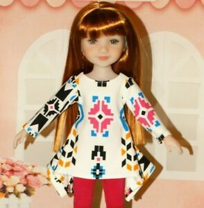 """Fits 15"""" Ruby Red Fashion Friends Doll ~Twirl Dress and Leggings Set~"""
