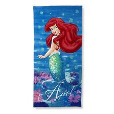 "Disney Princess Ariel The Little Mermaid Beach Towel Pool Bath Cotton 28""X58"" 3+"