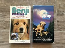 Lot of 2 Benji VHS: Disney's Benji The Hunted + Joe Camp's Benji at Marineland