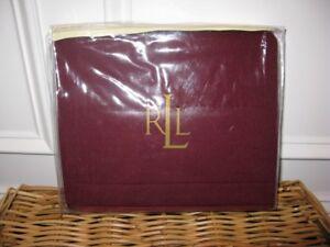 1 Ralph Lauren POET'S SOCIETY Burgundy Wool Standard Sham $150