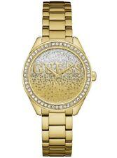 Relojes de pulsera baterías de acero inoxidable dorado resistente al agua