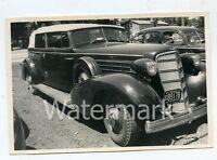 Vintage B/W photo car automobile 1935 Cadillac Convertible Sedan Wisconsin Plate