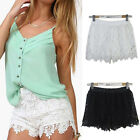 1.9Sexy Ladies Lace Shorts High Waist Short Pants Elastic Bottoms Women Trousers