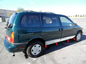 "1993-1998 Mercury Villager Mini Van Chrome Rocker Panel Trim 7Pc 7 1/2"""