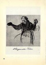 Käthe Kollwitz Klagende Frau / Frau mit zusammengelegten Händen Grafik 1930
