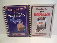 Cookbook LOT Best of the Best From Michigan AND Indiana Selected Favorite Recipe