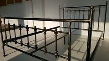 Altmodisches doppel Metallbett Frederick 160x200 inkl. Lattenrost