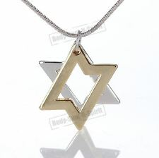 Modern design Judaica split Star of David lucky success Pendant Jewish Necklace