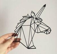 Géométrique Bear Head Wall Art Hanging Décoration Origami Style Choisissez Votre Couleur