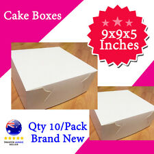 CAKE BOXES 9x9x5 Inches Qty 10/Pack Brand New - Wedding Cake Box - Cupcake Box