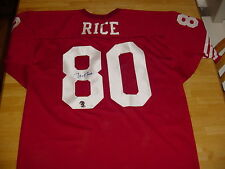 Jerry Rice Autographed 49er's Jersey with COA  FREE SHIPPING!!