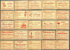 25 alte Gasthaus-Streichholzetiketten aus Deutschland #57