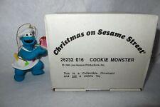 Cookie Monster 1992 Jim Henson Muppets Christmas On Sesame Street Ornament - Mib