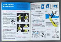 BRITANNIA AIRWAYS BOEING 707 & BOEING 737 VINTAGE AIRLINE SAFETY CARD BROCHURE