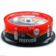 100 Maxell Music CD-R RECORDABLE CD's 100 Audio Discs