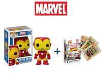 Pop! Marvel #4: Iron Man Vinyl Bobble-Head Wackelkopf Funko + Kartenspiel NEU