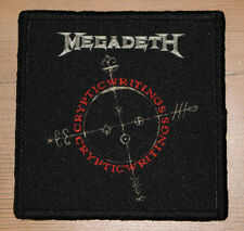 "MEGADETH ""CRYPTIC WRITINGS"" silk screen PATCH"