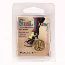 Manuscript Decorative Wax Sealing 18mm Coin Seal - Initial E