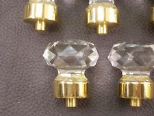Klar Schnitt Rund Kristallkugel Türknauf Glas One Chrom Zapfenloch Vintage Stil