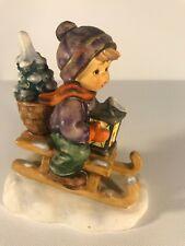 """Goebel Hummel #396/2/0 """"Ride Into Christmas"""" sledding figurine"""