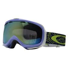 Oakley 57-741 ELEVATE Plume Dusk w/ Emerald Iridium Womens Snow Ski Goggles .