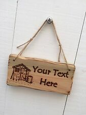 Handmade Personalised Rustic Wooden Garden Shed Allotment Workshop Sign Plaque