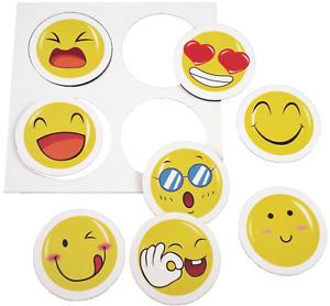 8x Magnete Smiley Whatsapp Emoji Whiteboard Küche Kühlschrank Motiv bunt NEU