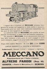 Z2360 MECCANO - Alfredo Parodi - Genova - Pubblicità 1928 - Vintage advertising