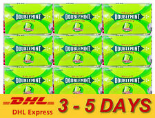 9 x WRIGLEY DOUBLEMINT CHEWING GUM Chewing Longer Lasting Fresh Breath 10 Pellet