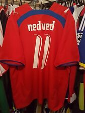 Czech Republic Football Shirt XL Nedved 11 Home 2006/08