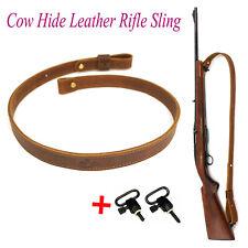 Коричневый из натуральной воловьей кожи винтовка строп + поворотные соединения _ crazy Horse регулировки ручной работы