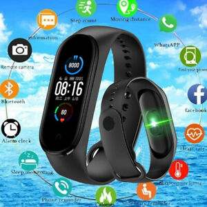Bluetooth Smart Watch M5 Heart Rate Blood Pressure Fitness FIT#BIT Tracker M4 +