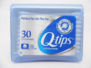 Q-tips Cotton Swabs Purse Pack 30ct 100% Pure Cotton On-the-Go Travel Size