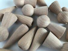 Job Lot 62 Solid Ash Wood Turned Light Cord Pulls Blinds Teardrop Tassels Crafts