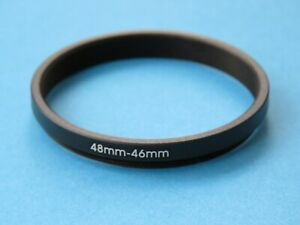 48mm to 46mm Stepping Step Down Ring Camera Lens Filter Adapter Ring 48mm-46mm