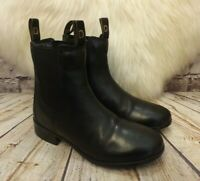 Womens Dublin Black Leather Pull On Low Heel Chelsea Ankle Boots UK 3 EUR 35.5