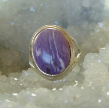 Ring mit Charoit, 925er Silber, Gr 16,5