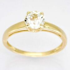 Yellow Topaz Solitaire Fine Rings