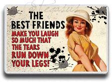 Funny Friend Gift Friendship Best Friend Tears run down MAGNET,JUMBO SIZE