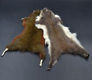 Natural Thick Hair Strip Nymphs Fur Fly Tying Insect Dubbing Pine Squirrel Skin