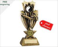 RESIN MARTIAL ARTS TROPHY KARATE AWARD FREE ENGRAVING 2 SIZES RM36 B8 & B