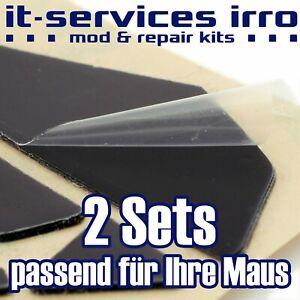 2x Mausgleiter Mausfüße Mouse Glides Gleitfüße passend für Ihre Maus