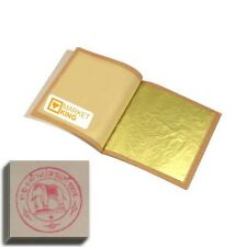 """SS-SMALL100 pcs 24 Karat Edible Gold Leaf for Cooking Art-Work Gilding 0.8"""" NEW"""