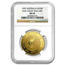 1993 Australia 1 oz Gold Nugget MS-69 NGC - SKU #76620