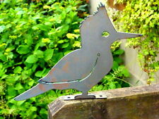 Cut Metal Rusty Kingfisher Bird Garden Home Yard Lawn Outdoor Window Art Decor