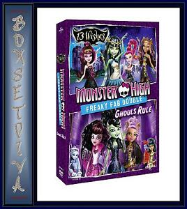 MONSTER HIGH - FREAKY FAB DOUBLE - 13 WISHES & GHOULS RULE    **BRAND NEW DVD **