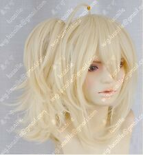 Women Light Blonde Ponytail Cosplay ZONE-00KISSHOUCasino Mirror Tone Bell Wigs