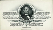 LINCOLN MEMORIAL CARD FROM WESTERN BANK NOTE BM4191